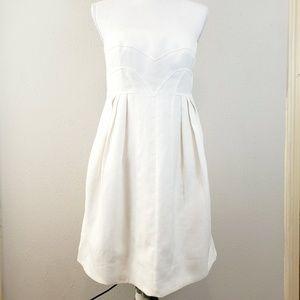 VERSACE White Strapless Dress